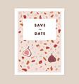 Modern wedding save date greeting card