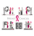 national breast cancer awareness month or pink vector image