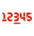 numbers japan style in a set 12345 vector image