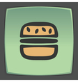 outline hamburger fast food icon Modern vector image vector image