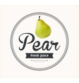 pear juice Detailed label vector image