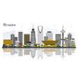riyadh saudi arabia city skyline with gray vector image vector image