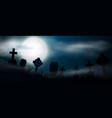 scary night halloween vector image vector image
