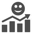 smile positive trend flat icon vector image vector image