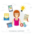 Technical support flat vector image vector image