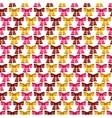 Valentine seamless pattern of glossy bows vector image vector image