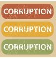 Vintage CORRUPTION stamp set vector image vector image