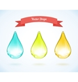 water drop and drops of oil vector image vector image