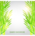 watercolor bamboo background with green vector image vector image