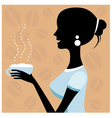 Woman drinking coffee vector image vector image