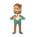 Working man to change his clothes vector image