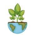 world planet ecology symbol vector image