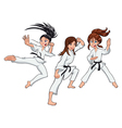 Young girls Karate Players vector image