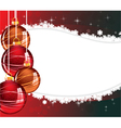 Red and orange Christmas decorations vector image