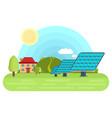 solar panels bright flat vector image
