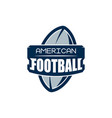american football logo template college logos vector image