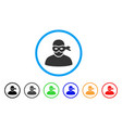 anonimious thief rounded icon vector image
