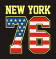athletic new york 76 tshirt graphic vector image vector image