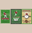 baseball sport players balls and bats on stadium vector image vector image