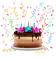birthday cake realistic design concept vector image vector image