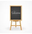Black Board on Easel Front View vector image vector image