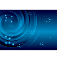blue background with stars and abstraction spiral vector image