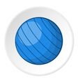 Blue volleyball ball icon cartoon style vector image vector image
