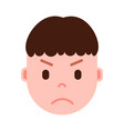 boy head emoji personage icon with facial emotions vector image