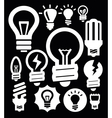 bulbs icons vector image vector image