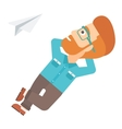 Businessman relaxing on cloud vector image vector image