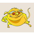 cartoon yellow smiling beast vector image vector image
