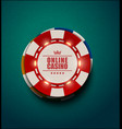 casino poker chips with luminous light vector image vector image