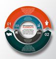 circle arrows for infographic template for cycling vector image vector image