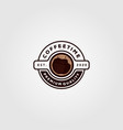 coffee cup logo cafe shop design vector image