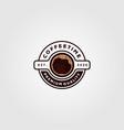 coffee cup logo cafe shop design vector image