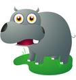 cute hippo vector image vector image