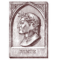 dante alighieri element for architecture design vector image vector image