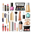 decorative cosmetics for make up big realistic vector image vector image