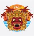design bali island logo vector image vector image