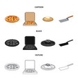 design of pizza and food symbol collection vector image vector image