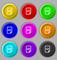 File GIF icon sign symbol on nine round colourful vector image vector image