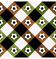 Football Ball Green Brown Chess Board Diamond vector image