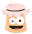 Funny jam jar vector image vector image
