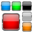 glass buttons with chrome frame colored set of vector image vector image