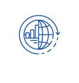 global integration line icon concept global vector image vector image
