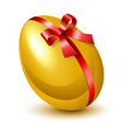golden egg vector image vector image