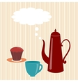 Greeting card with teapot vector image vector image
