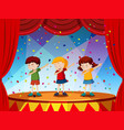 group of children perform on stage vector image