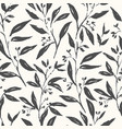 hand drawn plant black and white seamless pattern vector image vector image