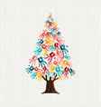 hand tree concept for people community help vector image vector image